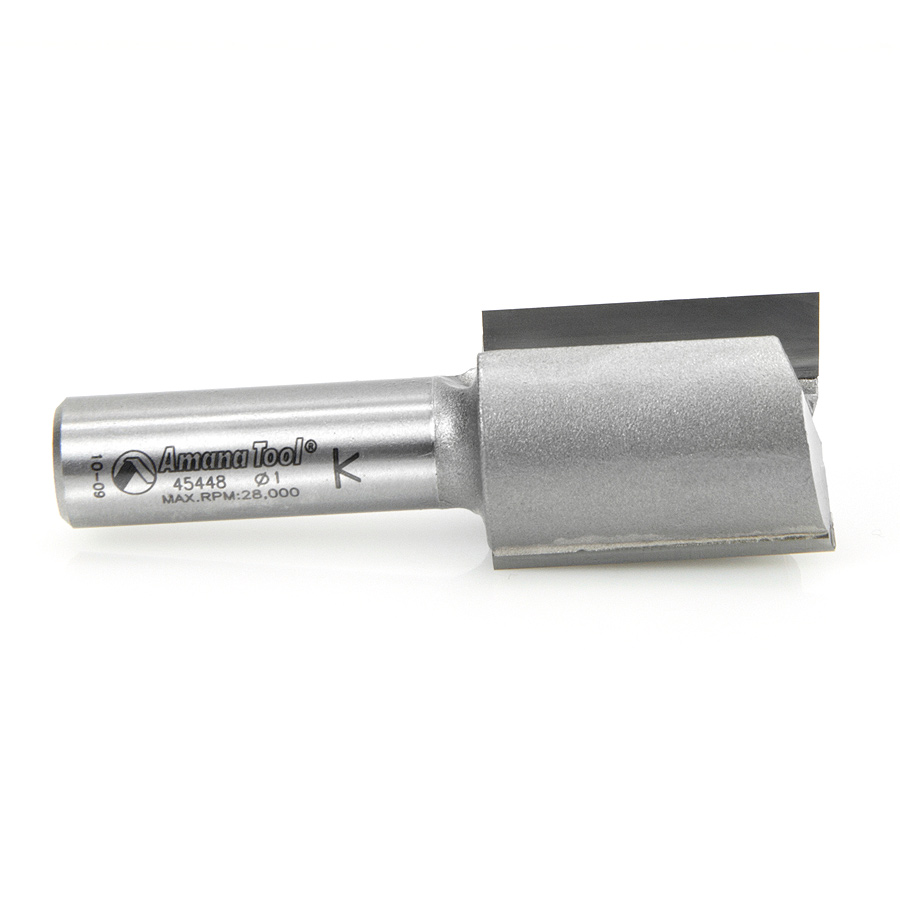 Amana Tool 45448 Carbide Tipped Straight Plunge High Production 1 Inch Dia x 1-1/4 x 1/2 Shank