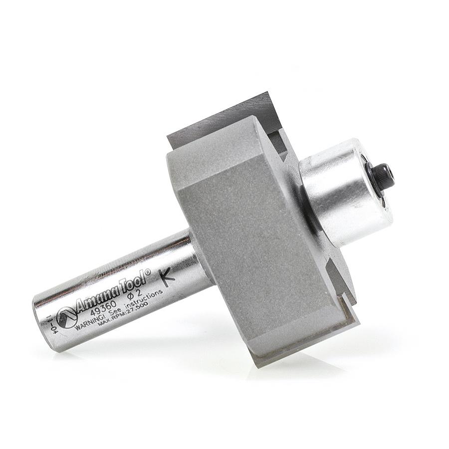 Amana Tool 49360 Carbide Tipped Superabbet 2 Dia x 7/8 x 1/2 Inch Shank