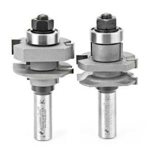 Amana Tool 55430 Carbide Tipped 2-Piece Ogee Stile and Rail 1-5/8 Dia x 1-1/16 x 1/4 Radius x 1/2 Inch Shank Se
